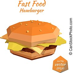 hamburger, food:, jeûne, cheeseburger