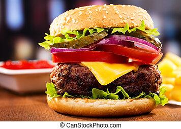 hamburger, frigge