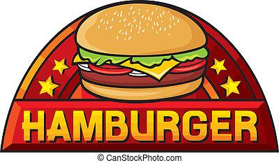 hamburger (hamburger sign, label, design)