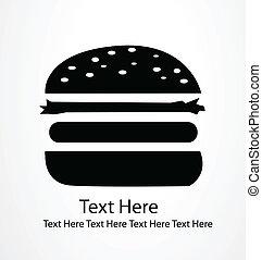 hamburger, icône