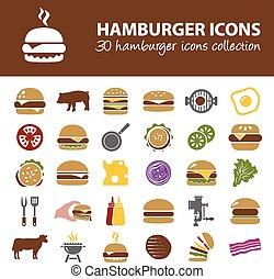 hamburger, icônes