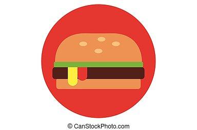 hamburger icon flat style vector illustration