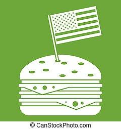 Hamburger icon green