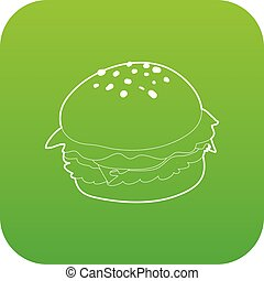 Hamburger icon green vector
