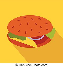 Hamburger icon in flat style