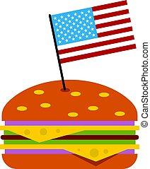 Hamburger icon isolated