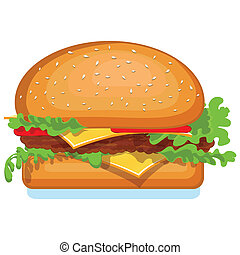 Hamburger icon isolated on white. V