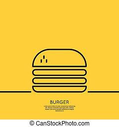 Hamburger icon on a yellow background.