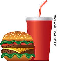 hamburger, ikon