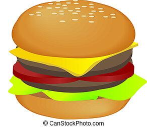 hamburger, illustratie