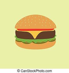 hamburger, illustrazione