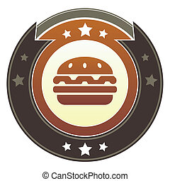 Hamburger imperial button
