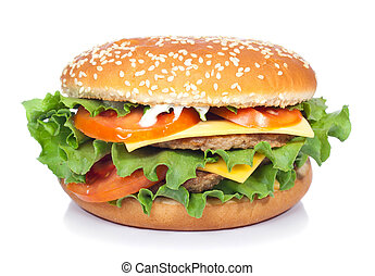 hamburger isolated on white