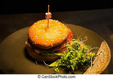 Hamburger, Junk food yummy.