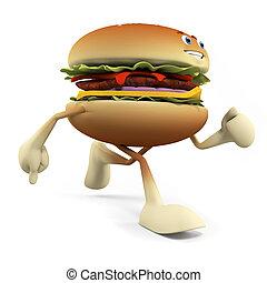 hamburger, karakter