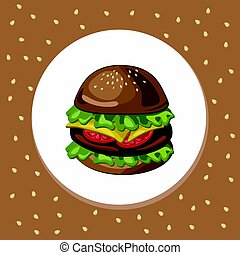 Hamburger logo background Vector illustration