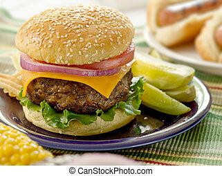 hamburger, maaltijd