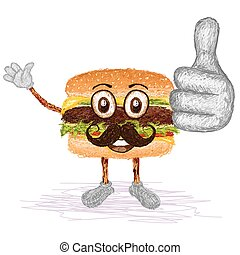 hamburger mustache