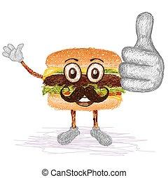 hamburger mustache
