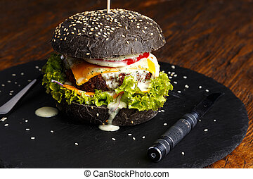 hamburger, nero