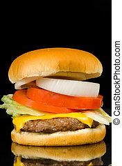 Hamburger on Black