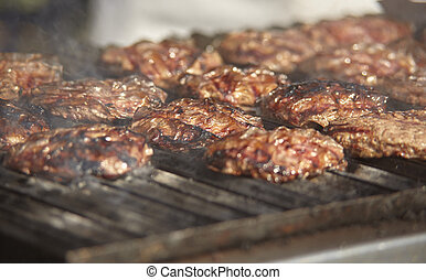 Hamburger on the grill