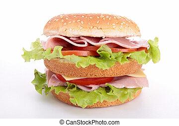 hamburger on white