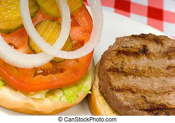 hamburger, picnic