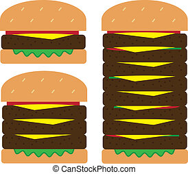 hamburger, piles