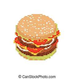 Hamburger Pixels Art Hamburger Pixels Art