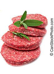 hamburger, rauwe