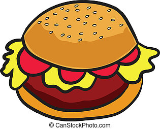 hamburger, retro