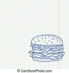 Hamburger Sketch