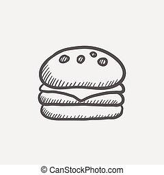Hamburger sketch icon