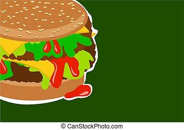hamburger, smakowity