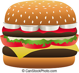 Hamburger Special - Burger complete with ingredients and...