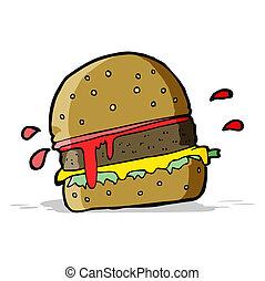 hamburger, spotprent