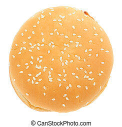 hamburger, sur, fond blanc, isolé