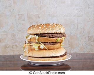 hamburger, tavola