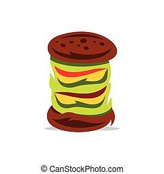 Hamburger Vector Cartoon Illustration.