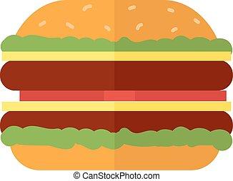 hamburger, vettore, illustration.