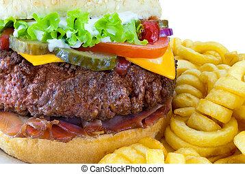 hamburger, z, francuskie roje rybek