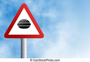 hamburger, znak