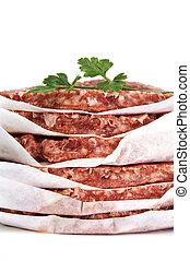 hamburgers isolated on a white background