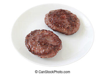 hamburgers on a plate