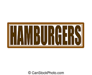Hamburgers - Stamp with word hamburgers inside, vector...