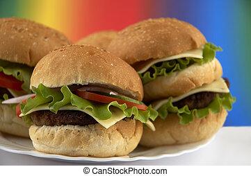 hamburgers - tasty food