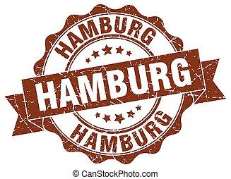hamburgo, redondo, cinta, sello
