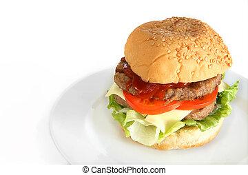 hamburguesa, casero