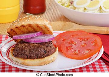 hamburguesa, comida